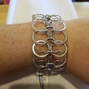 NWT Lucky Brand Silver Toned Chain Bracelet